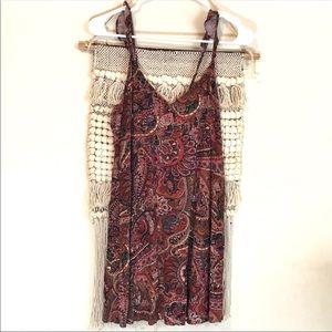 American Eagle Paisley Print Mini Dress